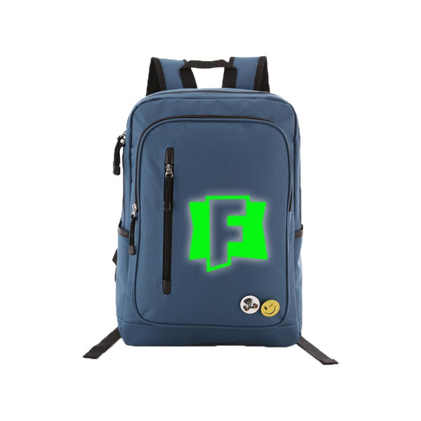 "Game Fortnite Students 17"" Backpack - Green Luminous CSSO093 - cosplaysos"