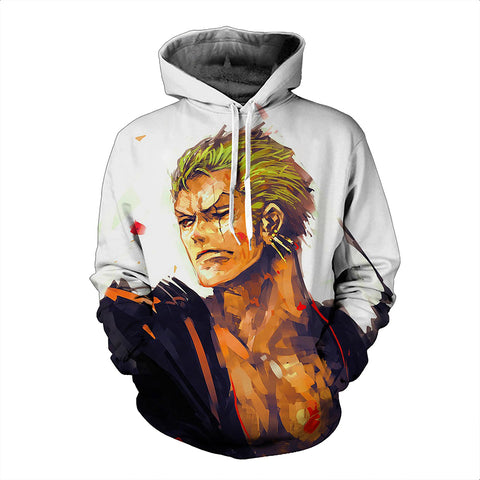 One Piece Hoodie - Zoro Pullover Hoodie CSSO002 - cosplaysos