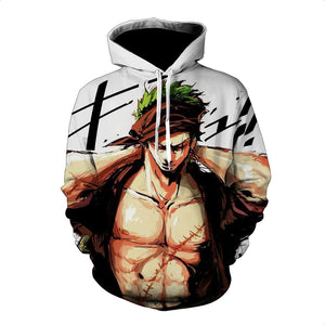 One Piece Hoodie - Zoro Pullover Hoodie CSSO023 - cosplaysos