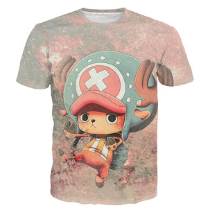 One Piece T-Shirt - Chopper Tee 3D Print T-Shirt CSSO027 - cosplaysos