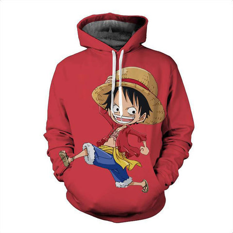 One Piece Hoodie - Monkey D. Luffy Pullover Hoodie CSSO016 - cosplaysos