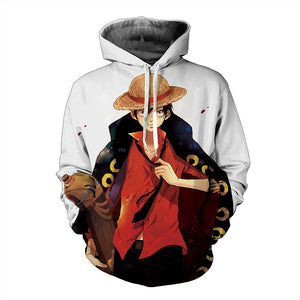 One Piece Hoodie - Monkey D. Luffy Pullover Hoodie CSSO009 - cosplaysos
