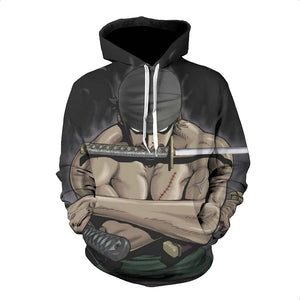 One Piece Hoodie - Zoro Pullover Hoodie CSSO022 - cosplaysos