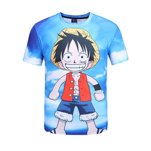 One Piece T-Shirt - Monkey D Luffy Tee 3D Print T-Shirt CSSO028 - cosplaysos