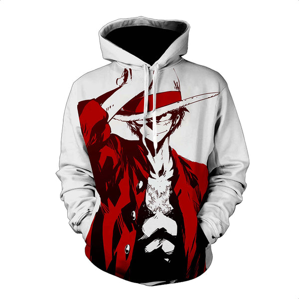 One Piece Hoodie - Monkey D. Luffy Pullover Hoodie CSSO017 - cosplaysos