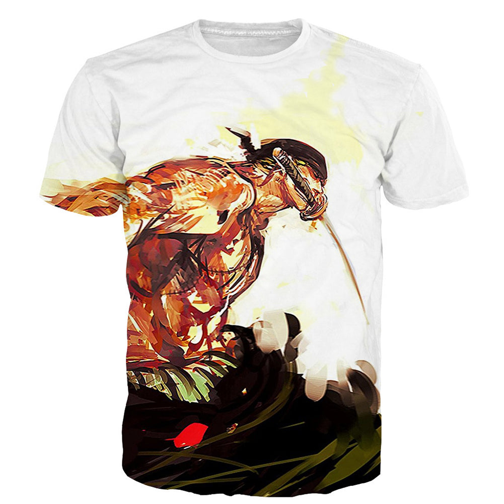 One Piece T-Shirt - ZoroTee 3D Print T-Shirt CSSO029 - cosplaysos