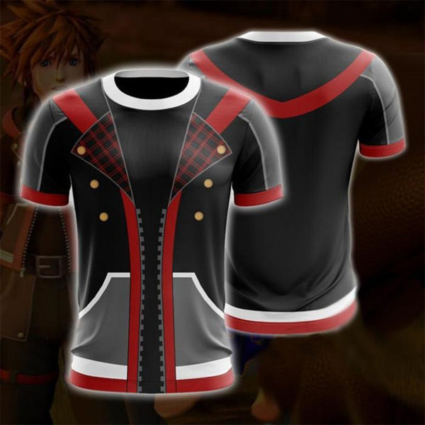 Kingdom Hearts T-Shirt - Black Sora Anime T-Shirt CPS816 - cosplaysos