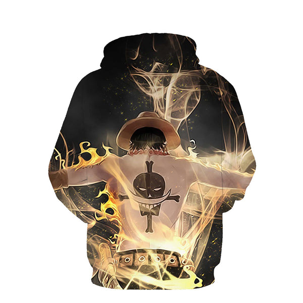 One Piece Hoodie - Portgas D Ace Pullover Hoodie CSSO019 - cosplaysos