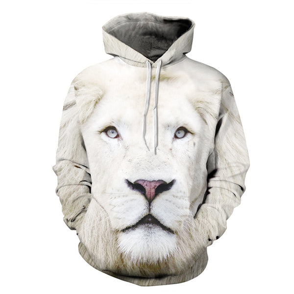3D Print Hoodie - Realistic Lion Pattern Pullover Hoodie  CSS030 - cosplaysos