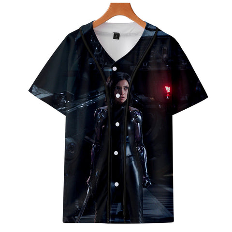 AlitaT-Shirt - Battle Angel Graphic Button Down T-Shirt CSOS998 - cosplaysos