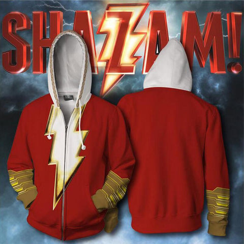 Shazam Billy Baston Zip Up Hoodie CSP900 - cosplaysos