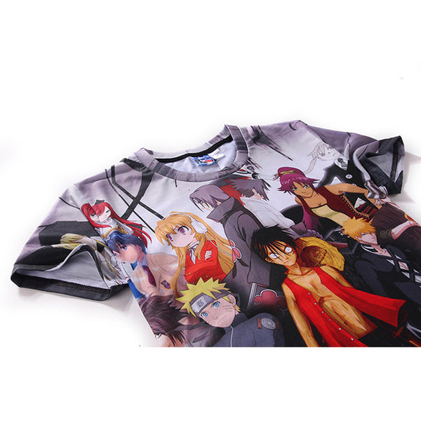 One Piece T-Shirt - Monkey D Luffy Tee 3D Print T-Shirt CSSO035 - cosplaysos