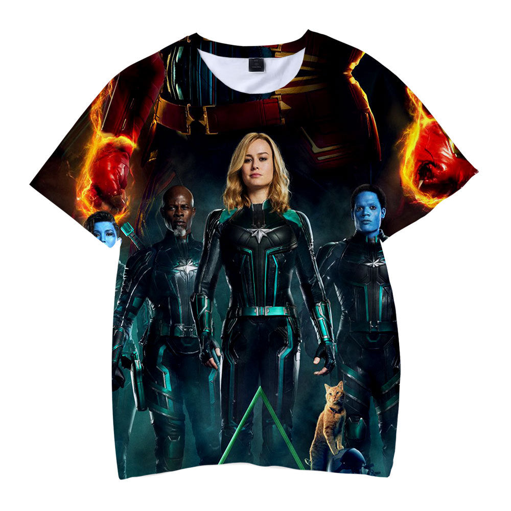 Captain Marvel T-Shirt - Carol Danvers Graphic T-Shirt CSOS921 - cosplaysos