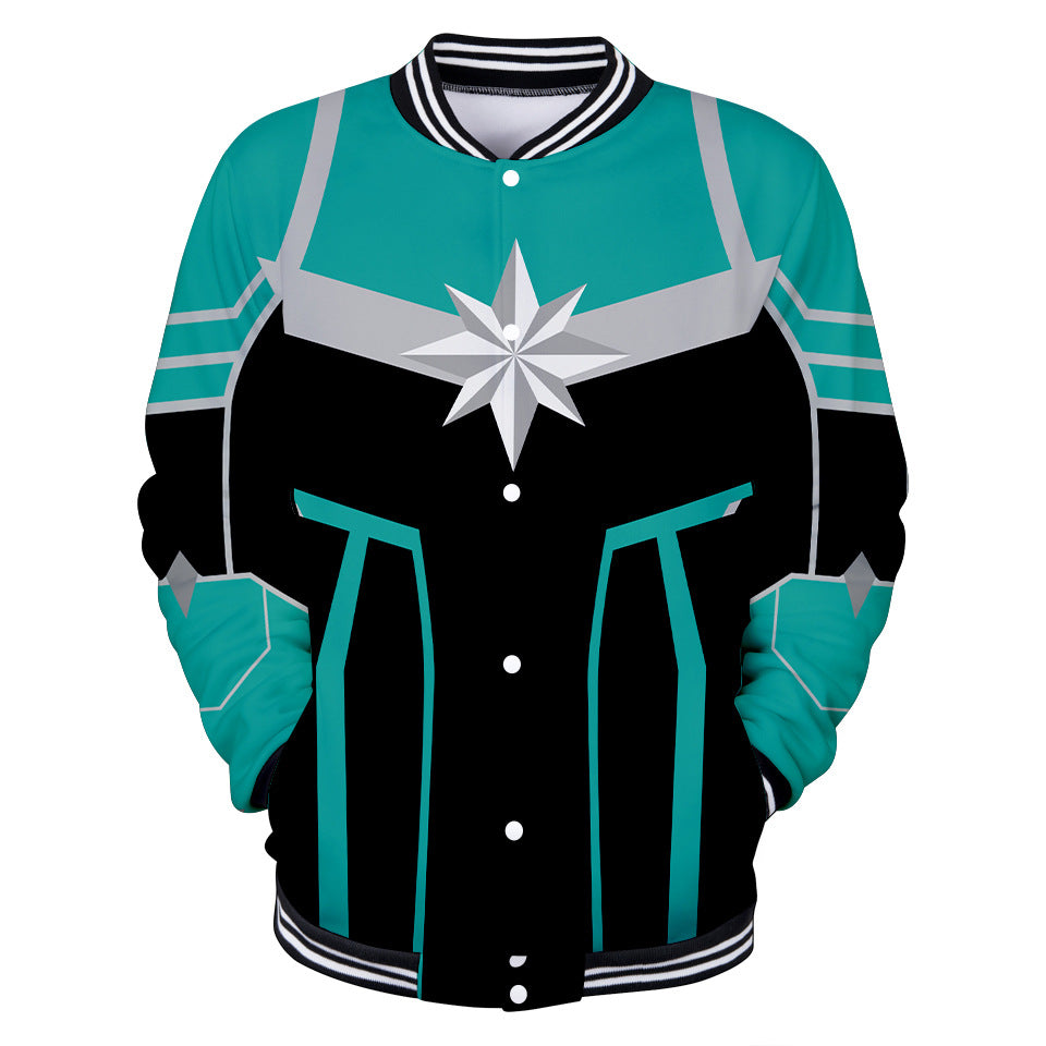 Captain Marvel Jacket - Carol Danvers Baseball Jacket CSOS908 - cosplaysos