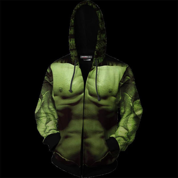 The Avengers Endgame Hulk Zip Up Hoodie CSP804 - cosplaysos