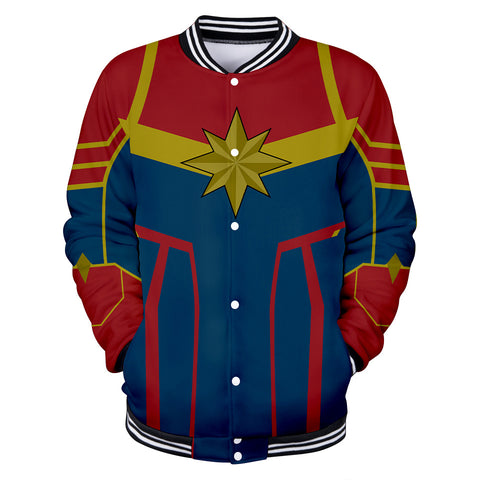 Captain Marvel Jacket - Carol Danvers Baseball Jacket CSOS909 - cosplaysos