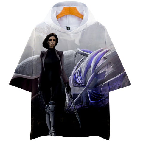 Alita T-Shirt - Battle Angel Graphic Hoodie T-Shirt CSOS981 - cosplaysos