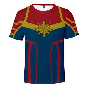 Captain Marvel T-Shirt - Carol Danvers Graphic T-Shirt CSOS924 - cosplaysos