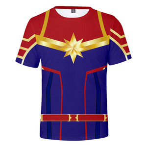 Captain Marvel T-Shirt - Carol Danvers Graphic T-Shirt CSOS922 - cosplaysos