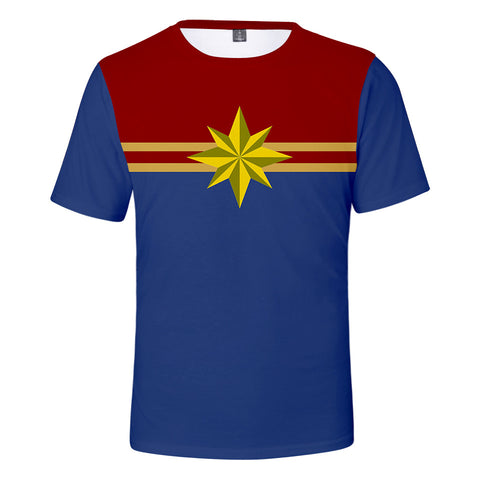 Captain Marvel T-Shirt - Carol Danvers Graphic T-Shirt CSOS926 - cosplaysos