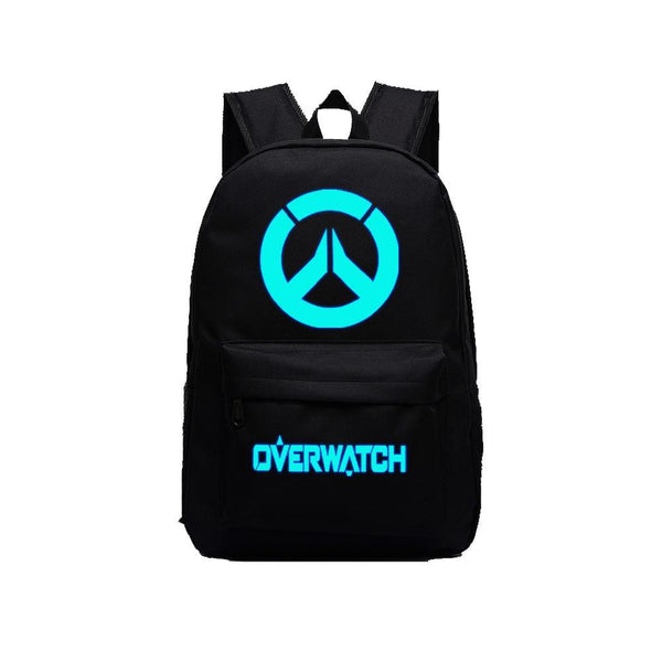 "Game Overwatch 17"" Canvas Luminous Bag Backpack CSSO130 - cosplaysos"