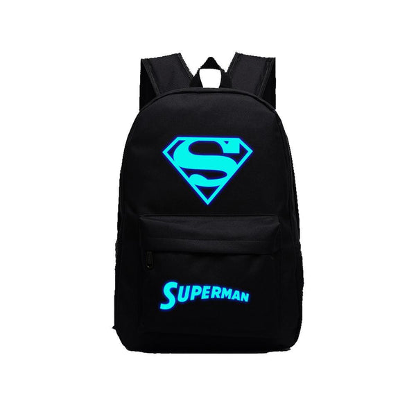 "DC Comic Super Hero Superman Luminous 17"" Computer Backpack CSSO115 - cosplaysos"