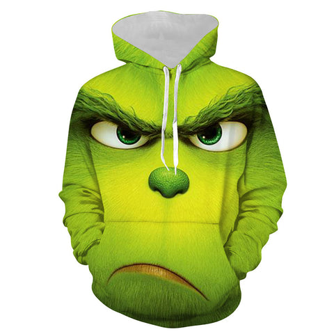 Grinch Hoodie - The Grinch Pullover Hooded Sweatshirt CSSG001 - cosplaysos