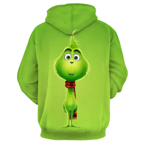 Grinch Hoodie - The Grinch Pullover Hooded Sweatshirt CSSG002 - cosplaysos