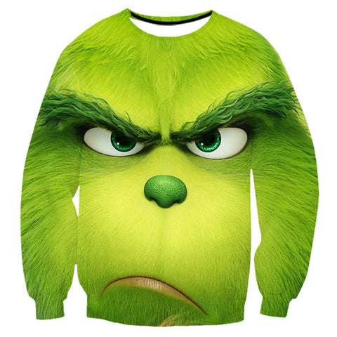 Grinch Sweatshirt - The Grinch Pullover Sweater CSSG006 - cosplaysos