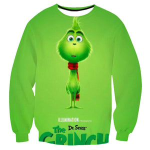 Grinch Sweatshirt - The Grinch Pullover Sweater CSSG007 - cosplaysos