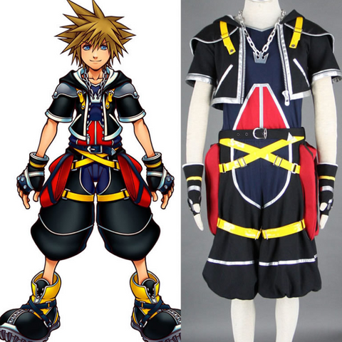 Kingdom Hearts Sora Cosplay Costume COT003 - cosplaysos