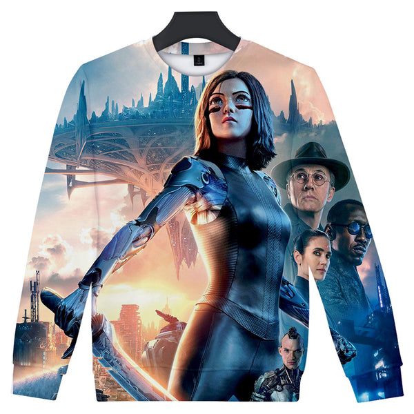 Alita Sweatshirt - Battle Angel Sweatshirt CSOS975 - cosplaysos