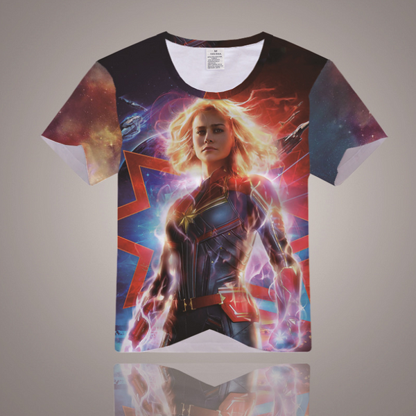 Captain Marvel T-Shirt - Carol Danvers Graphic T-Shirt CSOST001 - cosplaysos
