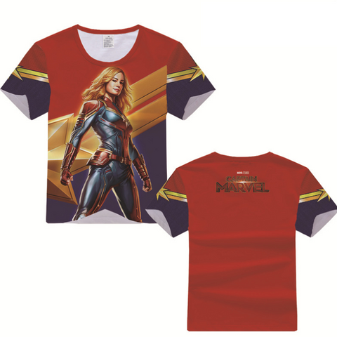 Captain Marvel T-Shirt - Carol Danvers Graphic T-Shirt CSOST002 - cosplaysos