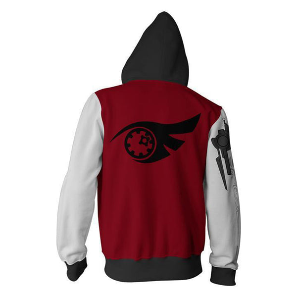 RWBY Anime Cosplay Costume Sweatshirt Zip Up Hoodie CSP003 - cosplaysos