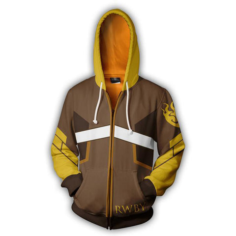 RWBY Anime Cosplay Costume Sweatshirt Zip Up Hoodie CSP006 - cosplaysos