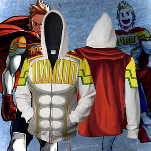 My Hero Academia Anime Cosplay Costume Sweatshirt Zip Up Hoodie CSP126 - cosplaysos
