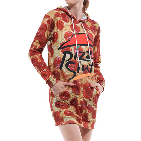 Pizza Hoodie Dress - cosplaysos