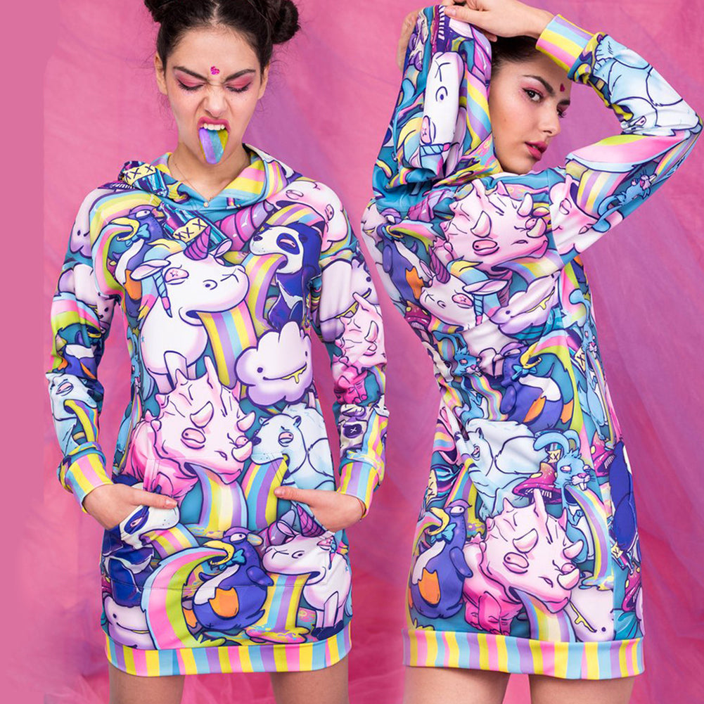Unicorn Hoodie Dress - cosplaysos
