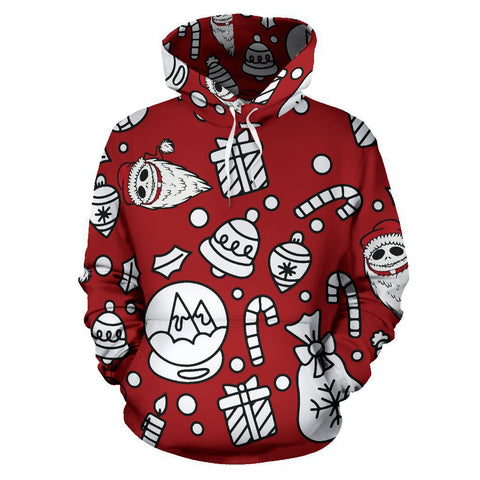 Jack Skellington The Nightmare Before Christmas Unisex Pullover Hoodie CSS101 - cosplaysos