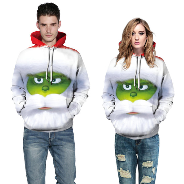 Grinch Hoodie - The Grinch Pullover Hooded Sweatshirt CSSG009 - cosplaysos