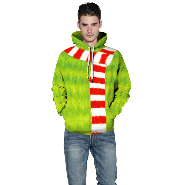 Grinch Hoodie - The Grinch Pullover Hooded Sweatshirt CSSG010 - cosplaysos