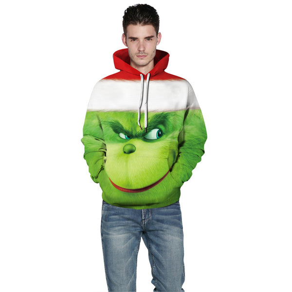 Grinch Hoodie - The Grinch Pullover Hooded Sweatshirt CSSG011 - cosplaysos