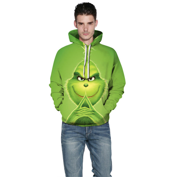 Grinch Hoodie - The Grinch Pullover Hooded Sweatshirt CSSG012 - cosplaysos