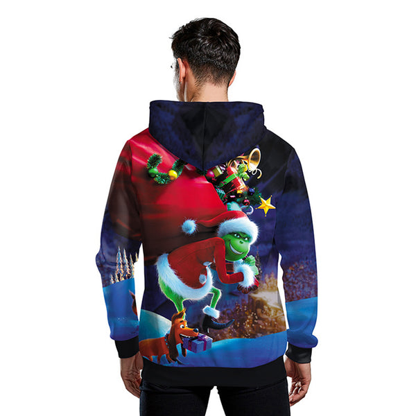 Grinch Hoodie - The Grinch Pullover Hooded Sweatshirt CSSG018 - cosplaysos