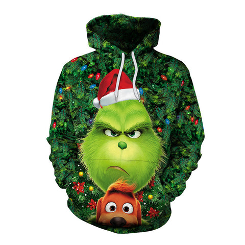 Grinch Hoodie - The Grinch Pullover Hooded Sweatshirt CSSG019 - cosplaysos