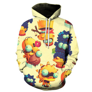 The Simpsons Hoodie - Cartoon Simpson Pullover Hoodie CSSG099 - cosplaysos