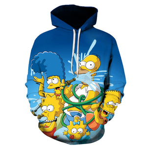 The Simpsons Hoodie - Cartoon Simpson Pullover Hoodie CSSG101 - cosplaysos