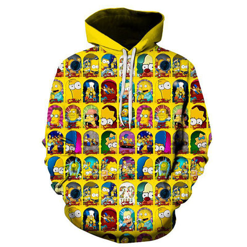 The Simpsons Hoodie - Cartoon Simpson Pullover Hoodie CSSG102 - cosplaysos
