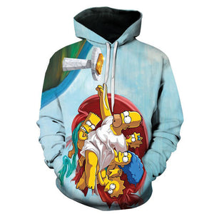 The Simpsons Hoodie - Cartoon Simpson Pullover Hoodie CSSG103 - cosplaysos